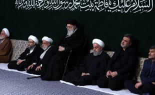 اولین شب مراسم عزاداری حضرت زهرا (س) در حسینیه امام خمینی برگزار شد