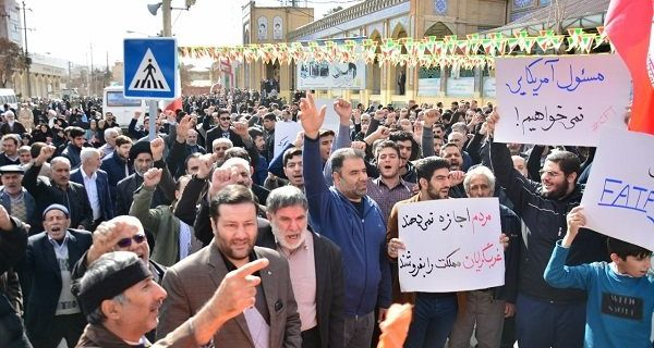 تجمع مردم انقلابی کرمانشاه و امضای طومار مخالفت با FATF