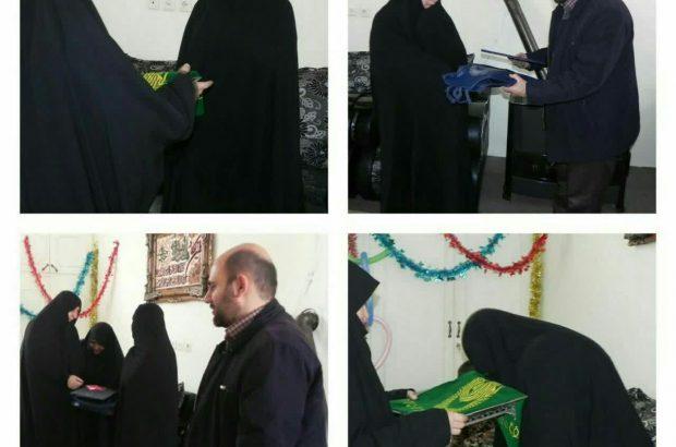 دیدار مدیردفتر نمایندگی آستان قدس رضوی در استان کرمانشاه با خانواده شهید مدافع حرم حسین علیخانی