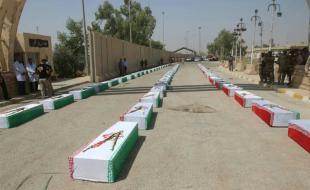 پیکر ۱۱۵ شهید تازه تفحص شده از راه دریایی اروند وارد خاک ایران شد