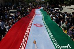 صحنه هایی زیبا از حماسه حضور مردم کرمانشاه در راهپیمایی روز قدس