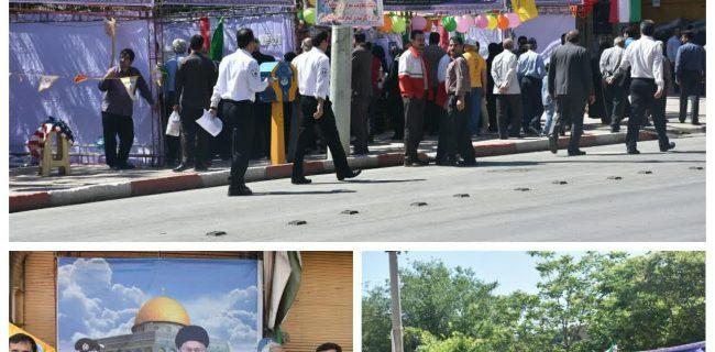 برپایی غرفه های فرهنگی در راهپیمایی روز قدس