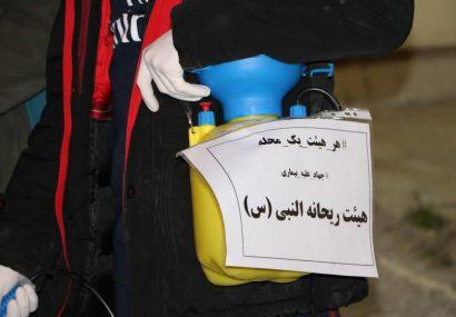 گزارش تصویری ضد عفونی شهر کرمانشاه توسط هیئت های مذهبی