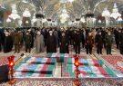 مراسم طواف شهدای مدافع حرم تازه تفحص شده