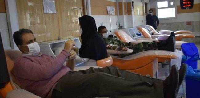 اهدای خون توسط پرسنل سازمان فرهنگی، اجتماعی و ورزشی شهرداری کرمانشاه