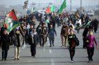 پیاده روی جاماندگان اربعین در کرمانشاه